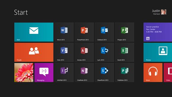 Управление проектами: статьи - Как выглядит новый Microsoft Office 2013 в новом Windows 8.